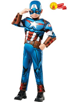 Rubies Avengers Assemble Captain America Fancy Dress Costume