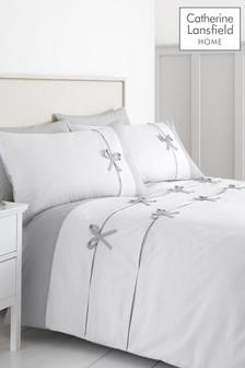Milo Bow Duvet Cover and Pillowcase Set by Catherine Lansfield