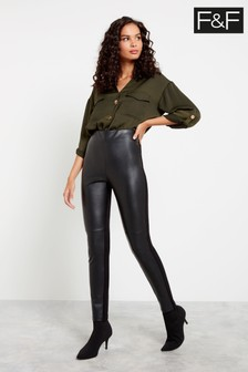 F&F Black PU Leggings