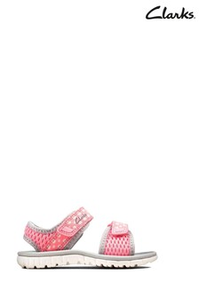 Clarks Pink Combi Surfing Tide T Sandals