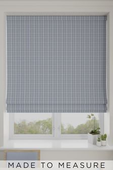 Malvern Sky Blue Made To Measure Roman Blind