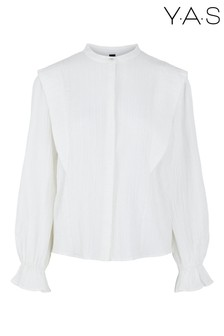 Y.A.S White Chally Frill Shirt