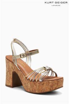 Kurt Geiger London Multi Metallic Mistie Cork Platform Sandal