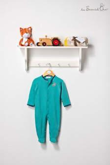 The Essential One Unisex Baby Turquoise Sleepsuit