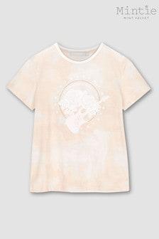Mintie by Mint Velvet Pink Tie Dye Rock Band T-Shirt