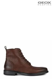 Geox Mens Terence Dark Cognac Boots