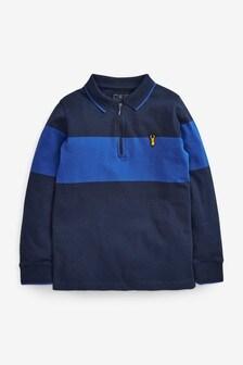 Long Sleeve Colourblock Polo (3-16yrs)