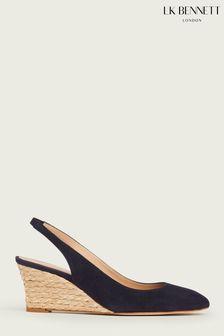 L.K.Bennett Navy Henny Eevi Slingback Shoes