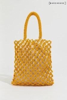 Warehouse Yellow Beaded Shopper