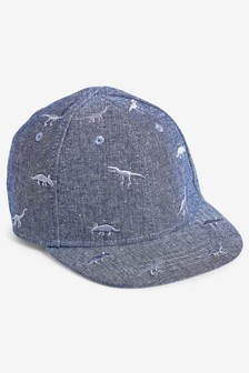 73f7c93a034 Blue Chambray Dinosaur Cap (Younger)