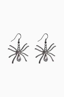 Halloween Spider Drop Earrings
