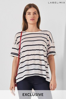 Mix/LF Markey Linen Blend Boxy T-Shirt