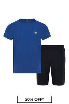 Emporio Armani Baby Blue T-Shirt And Shorts Set