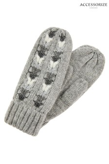 Accessorize Grey Elsa Sparkle Mittens