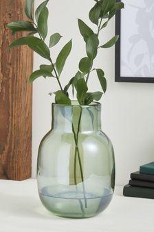 Green Lustre Glass Vase
