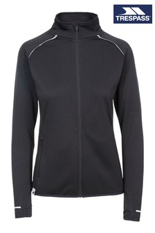 Trespass Black Evie - Female Active Full Zip Top TP75