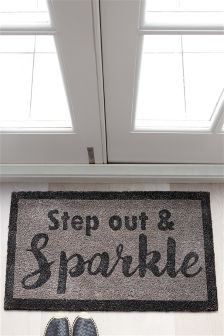 Step Out And Sparkle Doormat