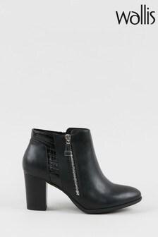 Wallis Waterfall Black Side Zip Boots
