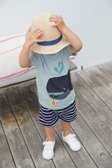 Whale Interactive Zip T-Shirt And Short Set (3mths-7yrs)