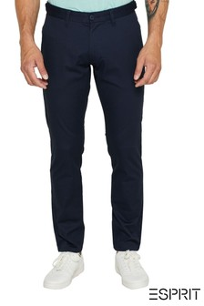 Esprit Navy Stretch Cotton Trousers