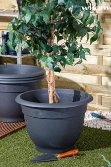 Set of 4 Wham 48cm Bell Pot Round Plastic Planters