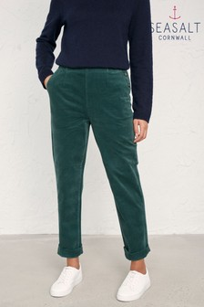 Seasalt Green Crackington Trousers Coast Land