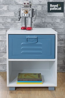 Parker 1 Metal Drawer Bedside Table By Lloyd Pascal