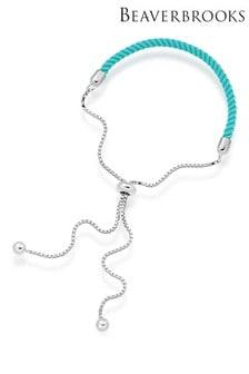 Beaverbrooks Sterling Silver Blue Friendship Slider Bracelet