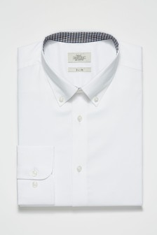 Slim Fit Single Cuff Contrast Trim Shirt