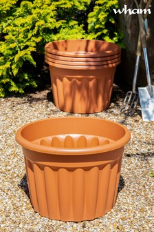 Set of 5 Vista 60cm Round Garden Planters by Wham
