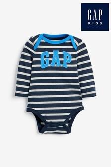 Gap Bodysuit mit Logo und Streifen, Marineblau
