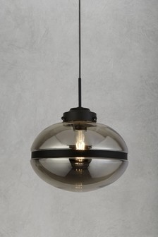Taylor 1 Light Smoked Pendant by Searchlight