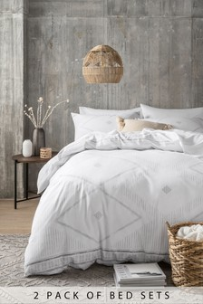 2 Pack Global Berber Duvet Cover And Pillowcase Set
