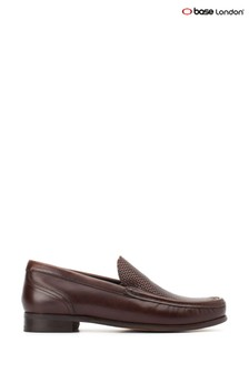 Base London® Brown Corin Washed Slip-On Shoes