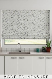 Neisha Sky Blue Made To Measure Roman Blind