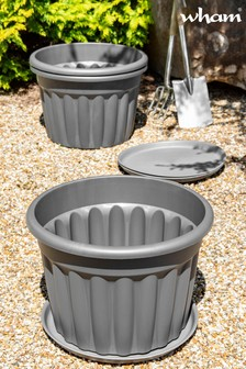 Set of 3 Vista 60cm Round Tray And Garden Planters by Wham