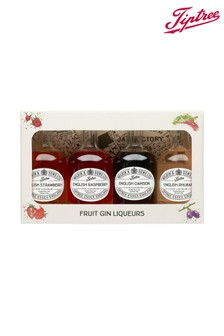 Set of 4 Miniature Fruit Gin Liqueurs by Tiptree