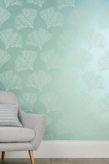 Paste The Wall Ginko Leaf Wallpaper