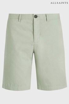 AllSaints Light Green Colbalt Chino Shorts