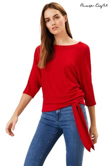 Phase Eight Red Rosie Tie Side Knit Jumper