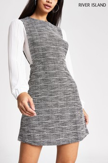 River Island Gertrude Pleated Sleeve 2-In-1 Dress