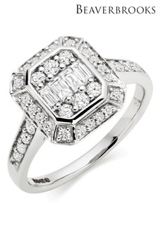 Beaverbrooks 18ct White Gold Diamond Ring