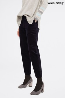 White Stuff Blue Sussex Velvet 7/8 Trousers