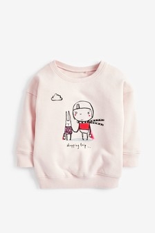 Shopping Crew Neck Sweat Top (3mths-7yrs)