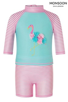 Monsoon S.E.W Baby Flamingo 2-Piece Sunsafe Set