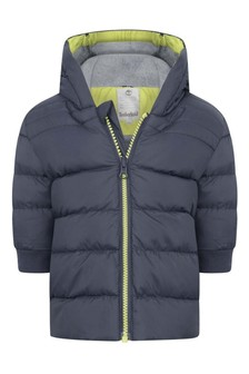Baby Boys Grey Hooded Padded Jacket