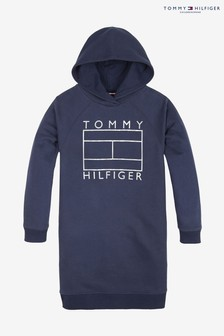Tommy Hilfiger Foil Flag Hoody Dress