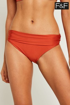F&F Orange Fold Over Pant