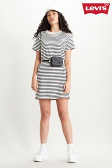 Levi's® Stripe Serif Logo Luna T-Shirt Dress