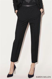 Karen Millen Black Tailoring Collection High Waisted Trouser